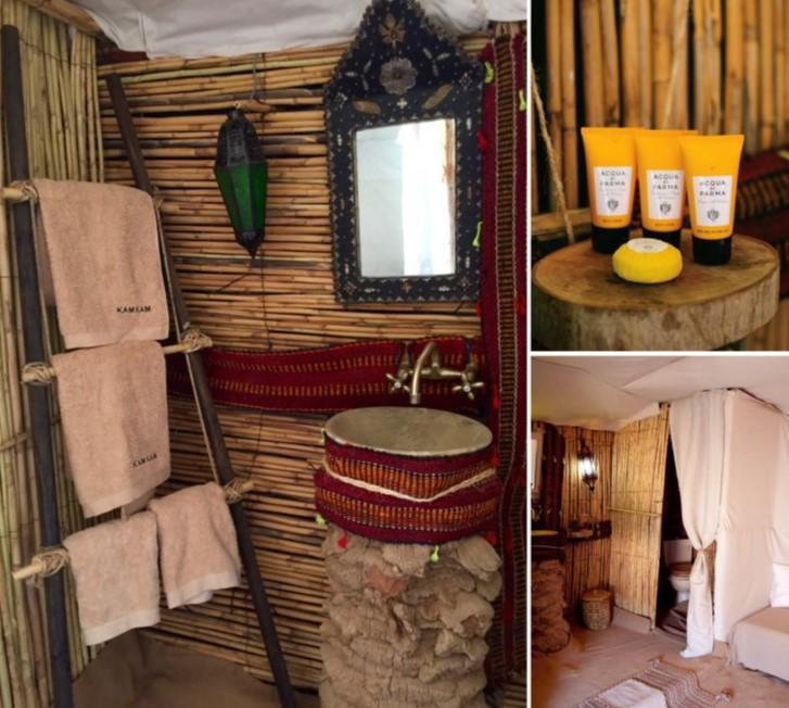 Haimas de lujo en el desierto de Marruecos con baño dentro de la tienda