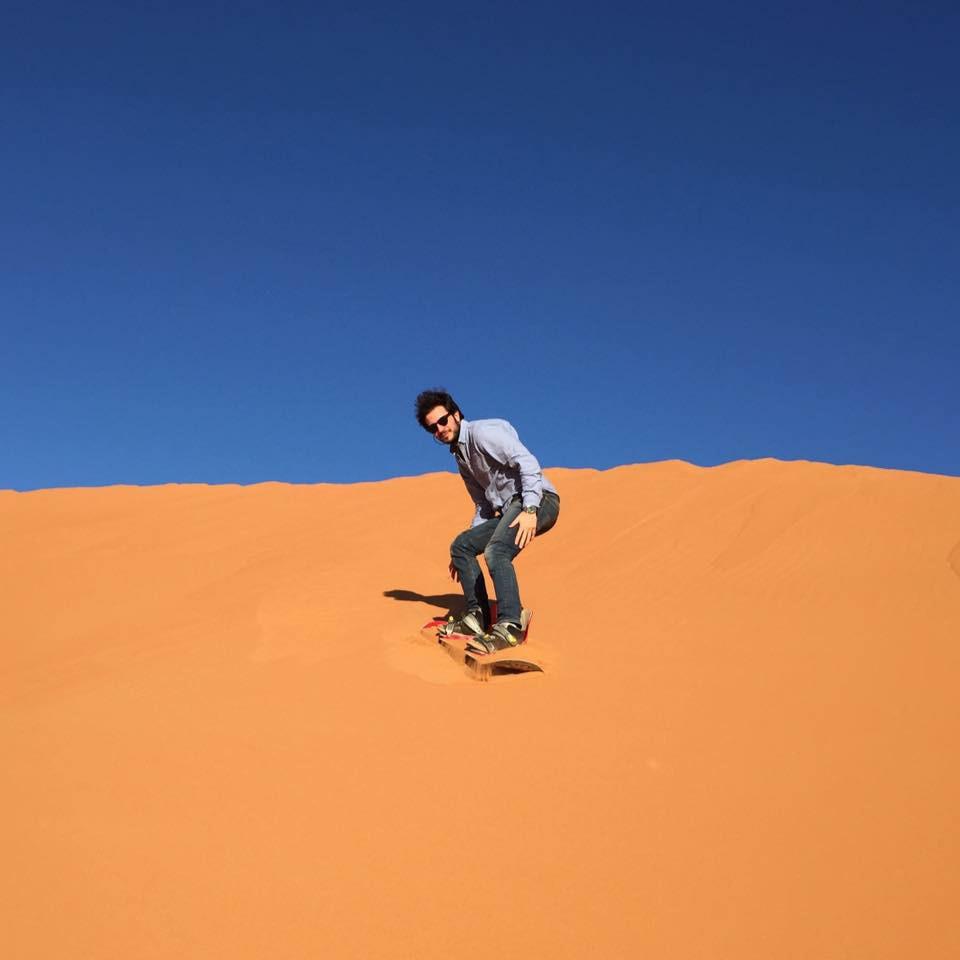 Sandsurf Adventure at the Sahara Desert of Morocco