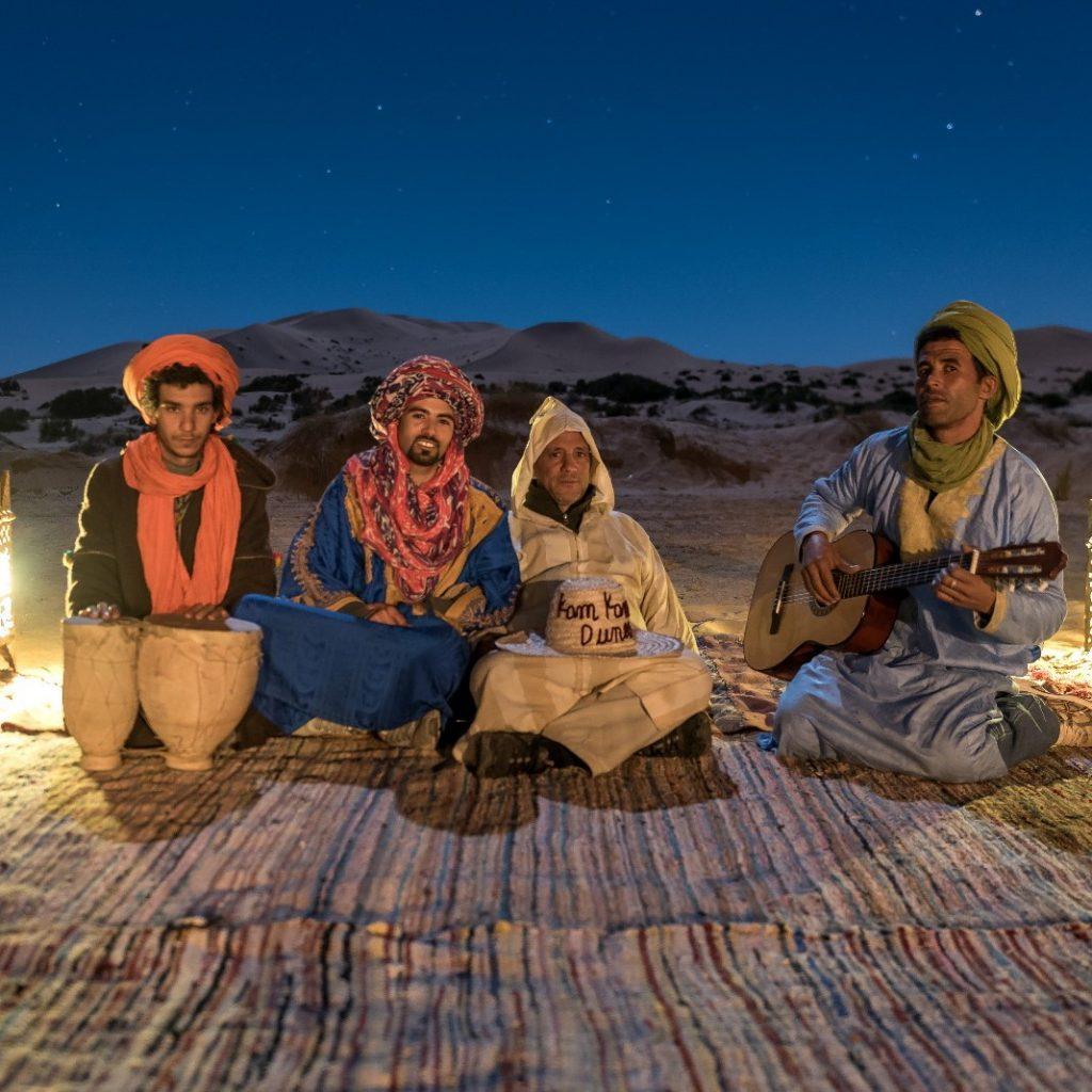 Autentic people Bereber in the Sahara of Morocco