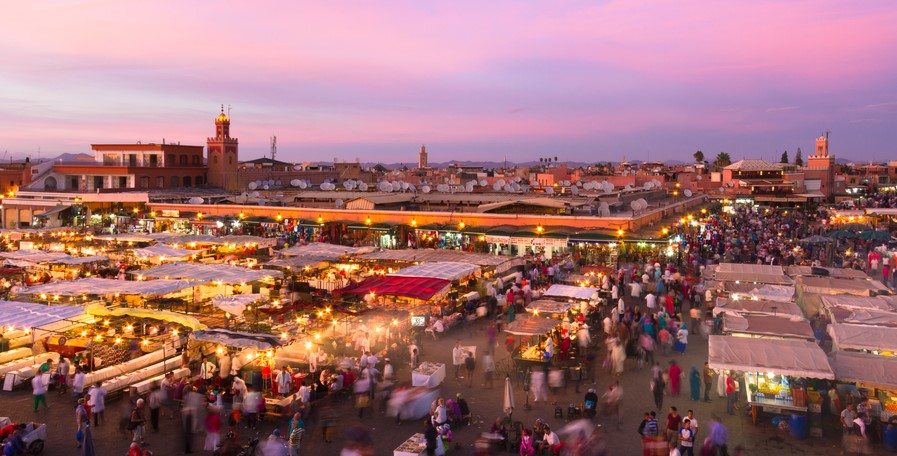 Jamaa el Fna also Jemaa el-Fnaa, Djema el-Fna or Djemaa el-Fnaa is a square and market place in Marrakesh, Morocco, Africa. UNESCO Masterpiece of the Oral and Intangible Heritage of Humanity.